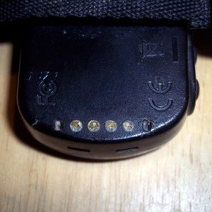 corroded garmin forerunner pins
