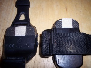 garmin forerunner pins covered with bandaid