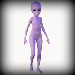 alien with no nipples
