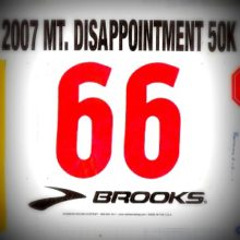 mt disappointment race bib