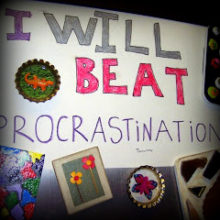 procrastination fridge sign